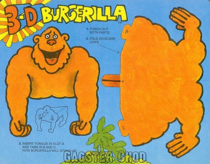 Burger Chef and Jeff: Burgergrilla Theme Funmeal 3-D Cut-out