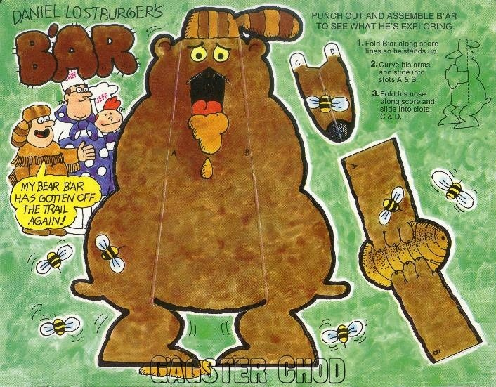 Burger Chef and Jeff:  Lostburger Theme Funmeal Bear Cut-Out.
