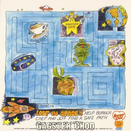 Burger Chef and Jeff: Outer Space Theme Funmeal Game 1.