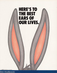 Bugs Bunny's Ears with a title that says: The Best Ears of Our Lives.""