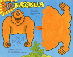3-D Burgerilla Fun Meal.