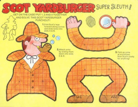 Burger Chef Funmeal: Scot Yardburger Super Sleuth.