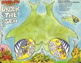 Burger Chef Funmeal: Under the Sea -FRONT with submarine cut-out.