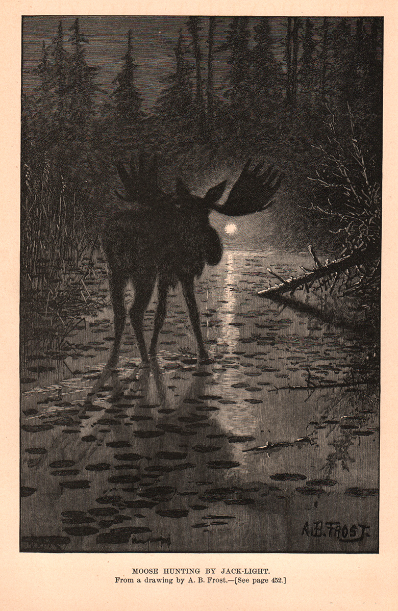 Moose Hunting by Jack-Light. Drawn by A.B. Frost.