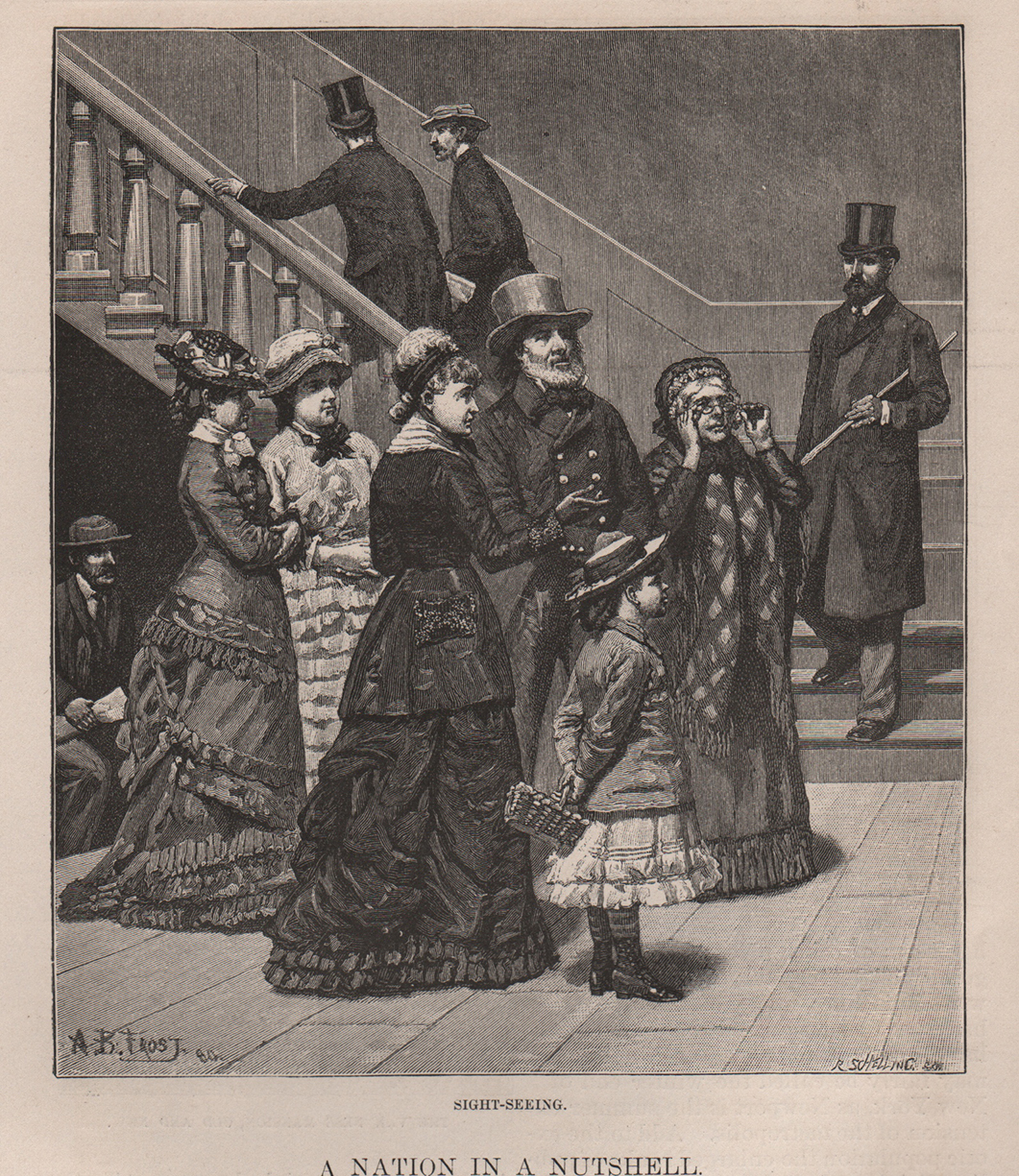 Washington DC Tourists. Harpers 1881 Drawn by A.B. Frost