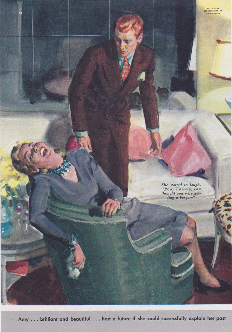 Good Housekeeping 1941-American magazine-Woman laughing in chair--john gannam