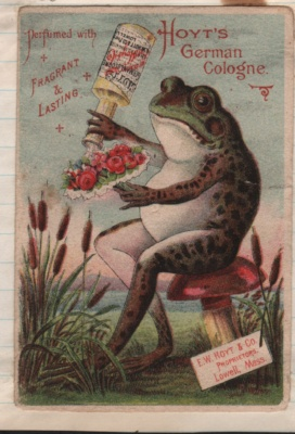 trade card cologne frog