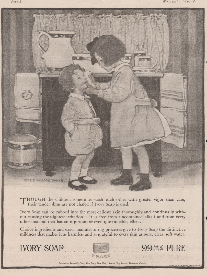 Vintage Ivory Soap Ad illustrated by Jessie Wilcox Smith.